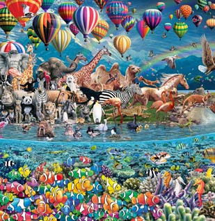 The construction of life the great challenge a 24000 piece jigsaw puzzle by royce b mcclure greentooth Choice Image